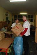 czyścimy pudełka po pizzy...